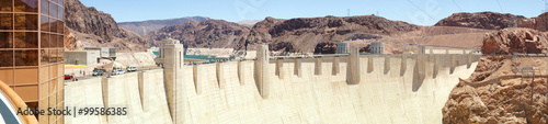 Staande foto Dam Hoover Dam. Border between the states of Nevada and Arizona, USA