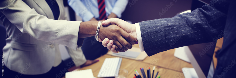 Fotografía  Business People Handshake Greeting Deal Concept