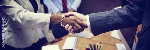 Cuadros en Lienzo  Business People Handshake Greeting Deal Concept