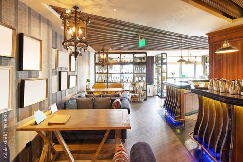 Zdjęcie XXL wnętrze nowoczesnej kawiarni