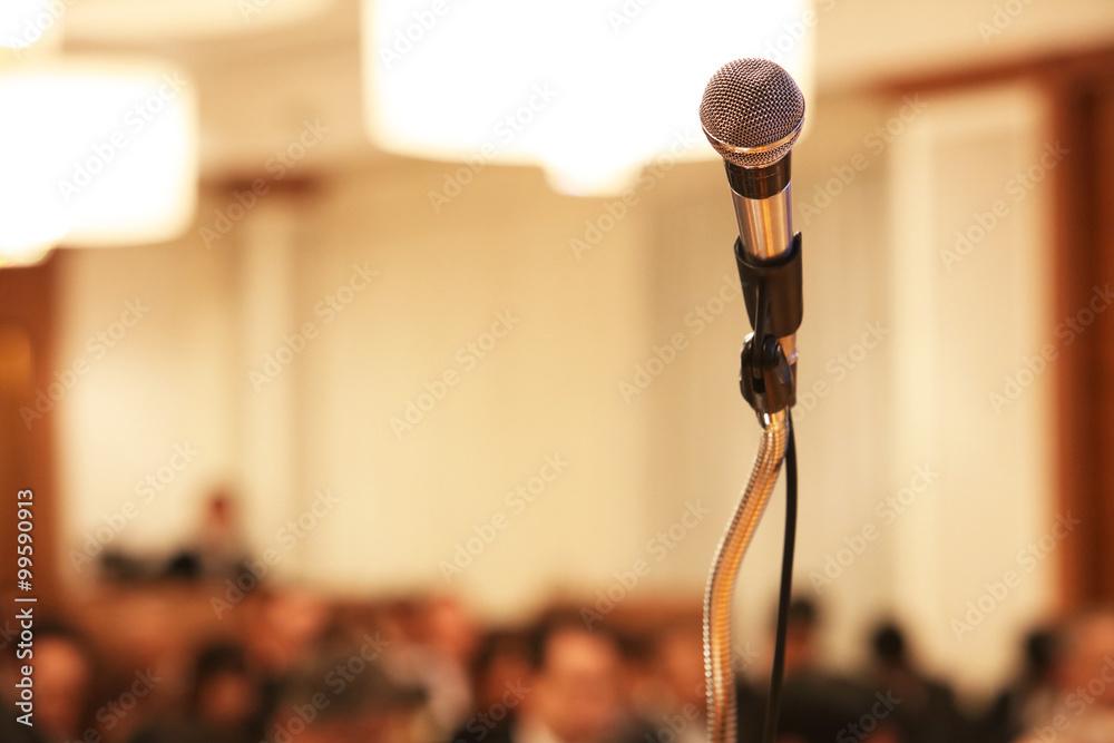 Fototapeta 講演会のマイク