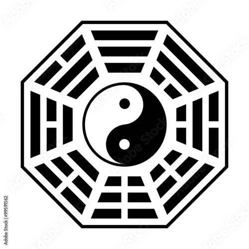 Bagua Symbol Of Taoism Daoism Flat Icon For Websites And Print