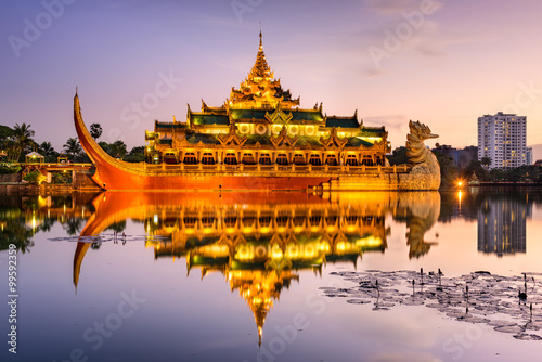 Foto  Palace of Yangon, Myanmar