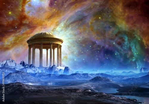Plakaty Fantasy alien-planet-fantasy-landscape