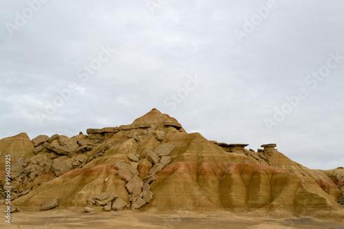Rocks in Bardenas Canvas Print