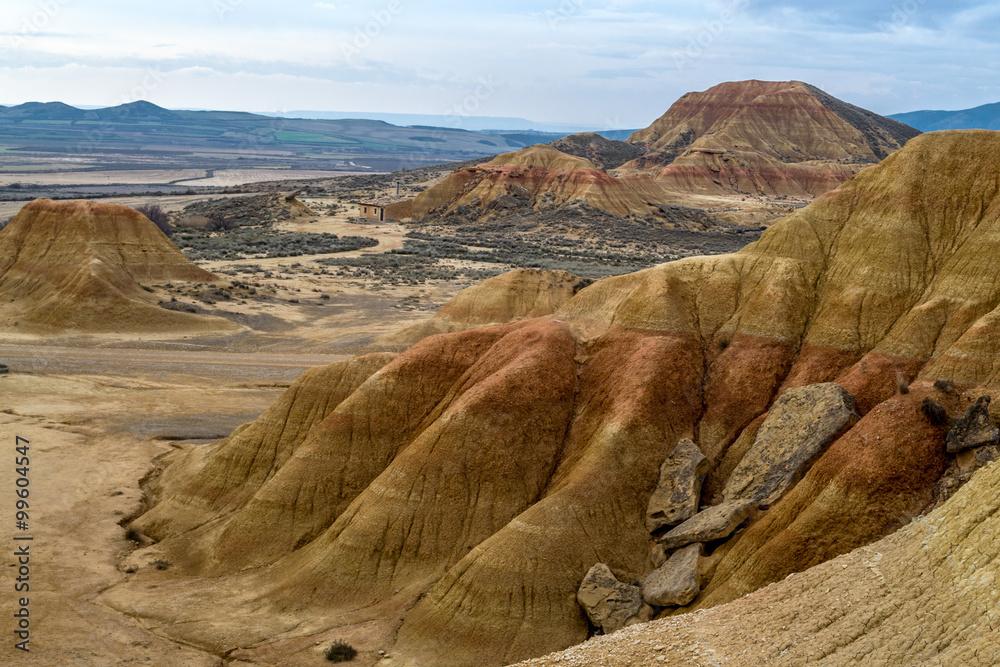 Fotografie, Obraz Erosion in Bardenas Reales