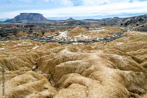Photo  Erosion in white bardenas