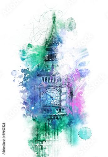kolorowy-zegar-w-londynie