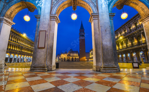 Poster Artistic monument Venice architecture in San Marco square, historic place of Italy
