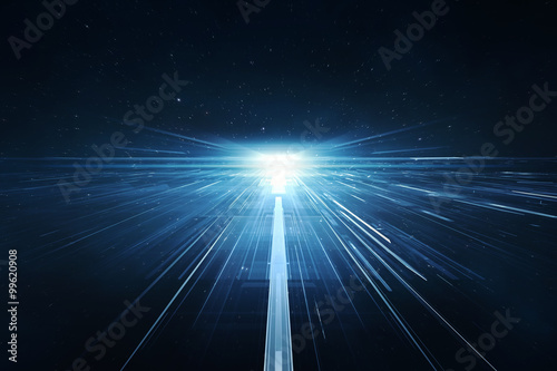 Photographie Abstract lens flare space or time travel concept background