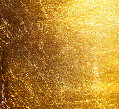 Fotografia  gold foil background texture.