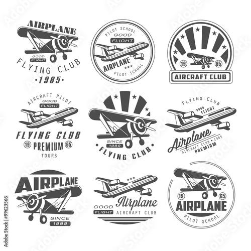 Photo Airplane Club Emblems