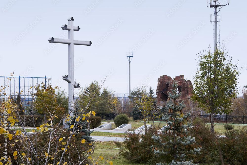 Valokuva  Крест, братская могила 138 гвардейск