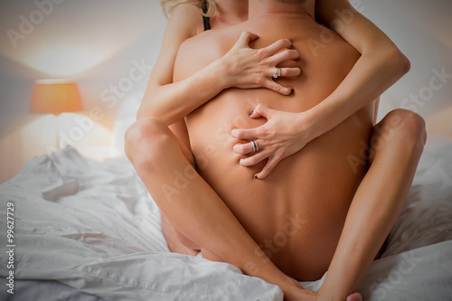 Photo  Woman and man having rough sex