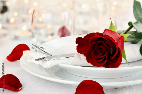 Romantic Candlelite Table Setting