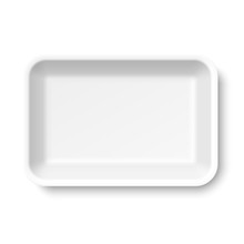 White Empty Styrofoam Food Tray