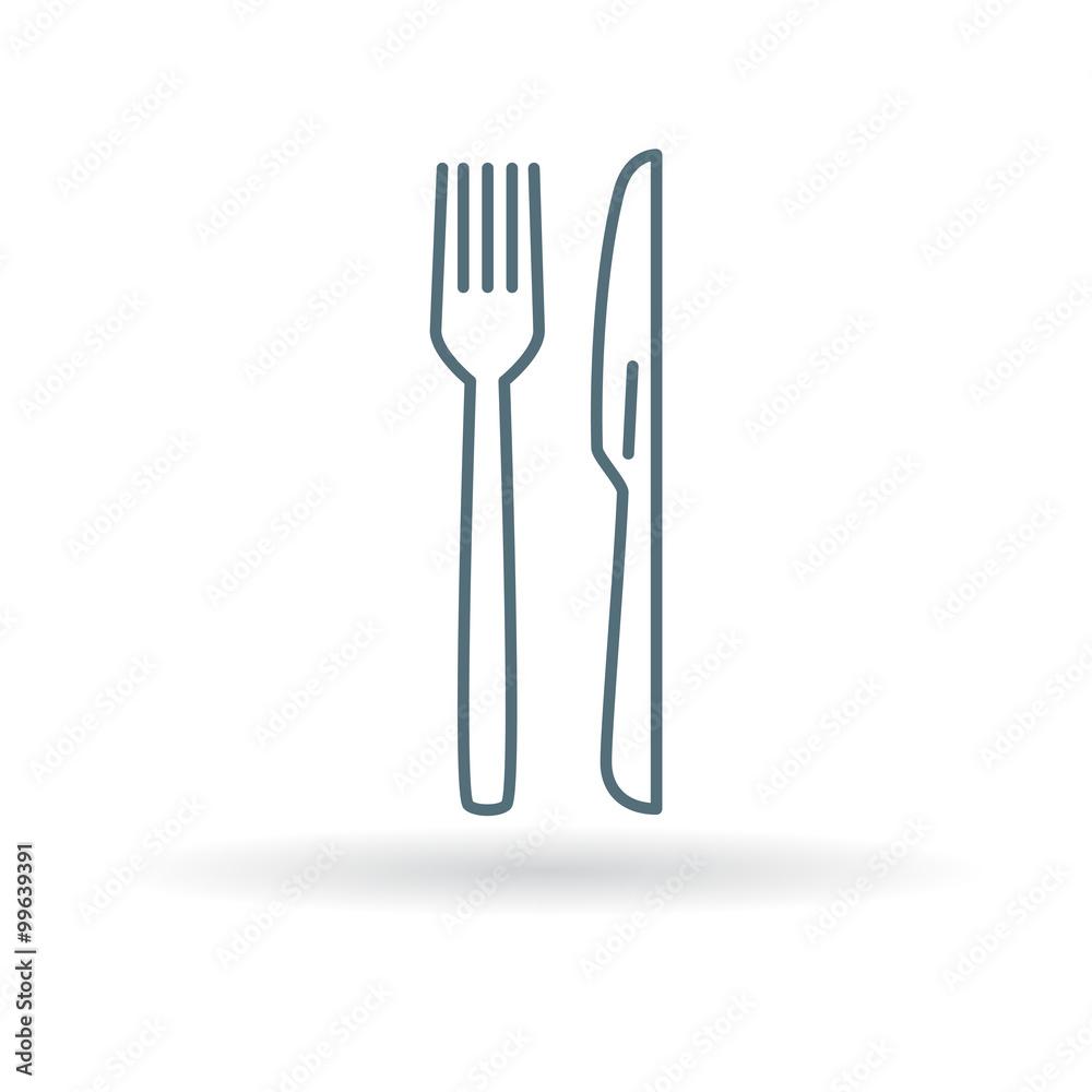 Fotografie Obraz knife and fork icon