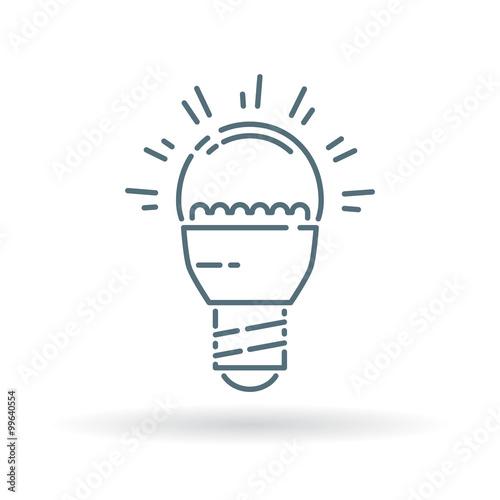 Low energy consumption LED light bulb icon  Eco friendly