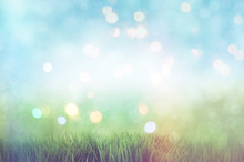 3D Grassy Landscape With Retro...