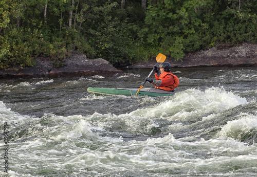 Fotografie, Obraz  Kayaker in whitewater
