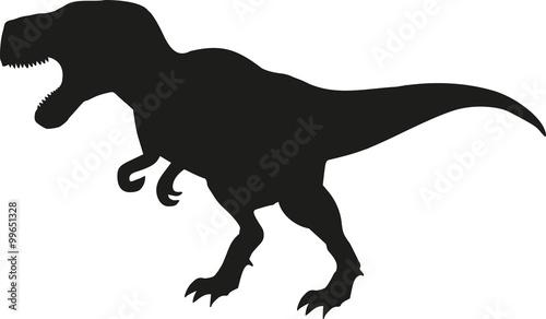 Photo  Dinosaur tyrannosaurus silhouette