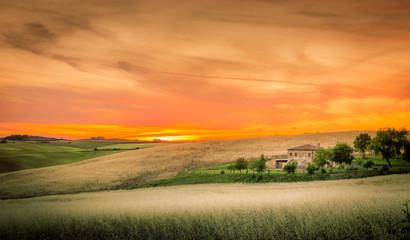Fototapeta Wschód / zachód słońca Tuscan sunset