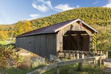 Hamden Covered Bridge In Autumn