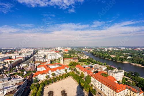Fototapeta Sicht über Magdeburg obraz na płótnie