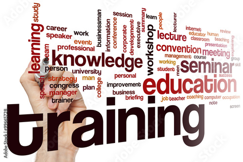 Foto  Training word cloud concept