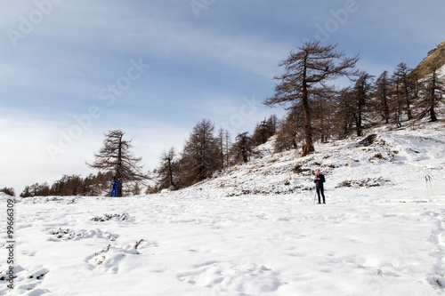 Fotobehang Paesaggio Alta montagna - inverno - val d'aosta - italia
