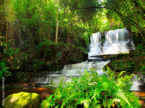 Recess Fitting Waterfalls Mundang waterfall, a beautiful waterfall in Thailand