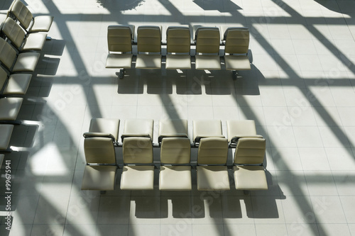 Fototapety, obrazy: Empty chair for passengers boarding at airports.