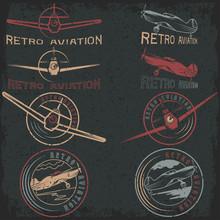 Vector Set Of Grunge Vintage L...