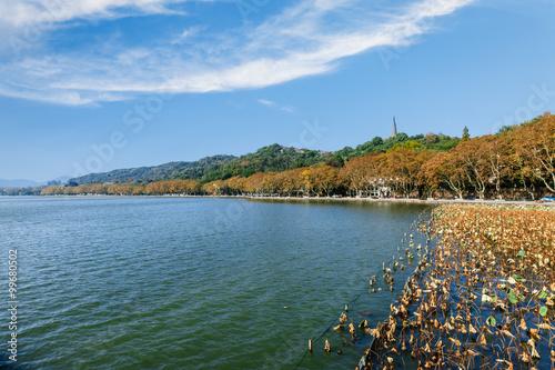 Fotobehang Oceanië Hangzhou west lake beautiful scenery in the autumn, China