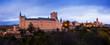 Evening panorama of Segovia