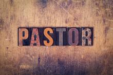 Pastor Concept Wooden Letterpress Type