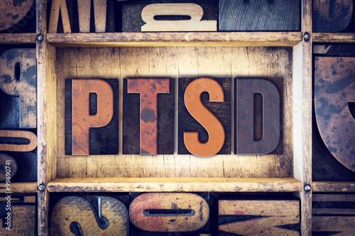 Fotografie, Obraz  PTSD Concept Letterpress Type