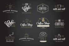 Set Of Vector Coffee Elements ...