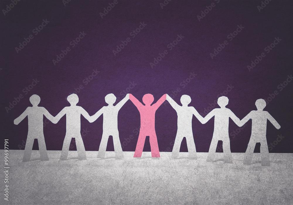 Fototapeta leadership in team