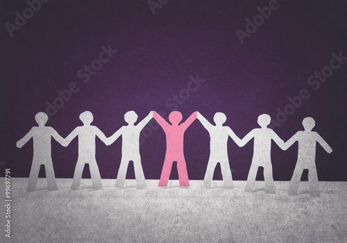Fotografiet  leadership in team