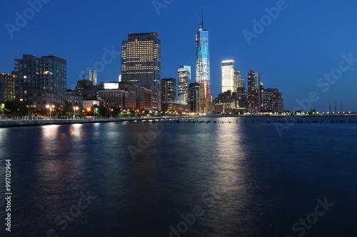 Fototapety, obrazy: Manhattan night skyline