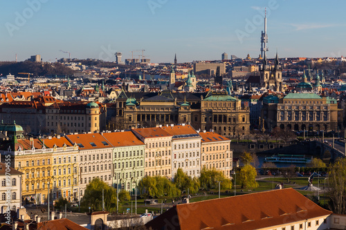 Prague Cityscape During the Day Poster