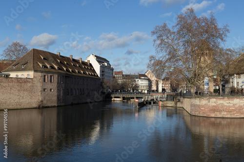 Foto auf AluDibond Stadt am Wasser Strassburg