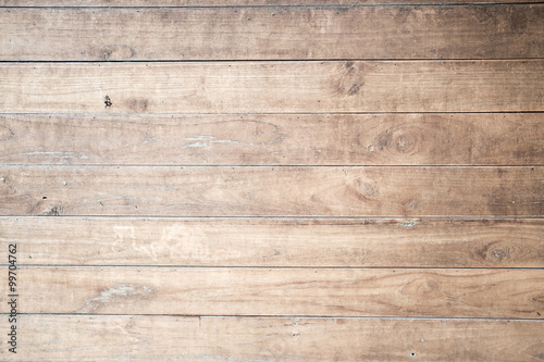 Garden Poster Wood Wood plank brown texture background.