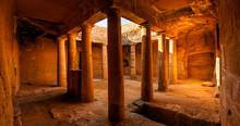 Ancient Tomb Interior, Panoramic View