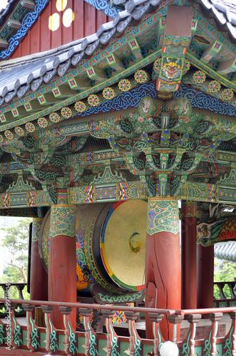 Bongeunsa Buddhist Temple in Seoul, South Korea.. Poster