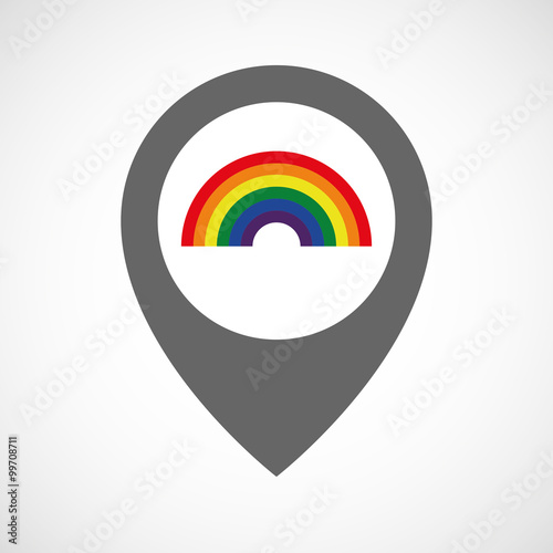 Isolated map marker with a rainbow - Buy this stock vector and