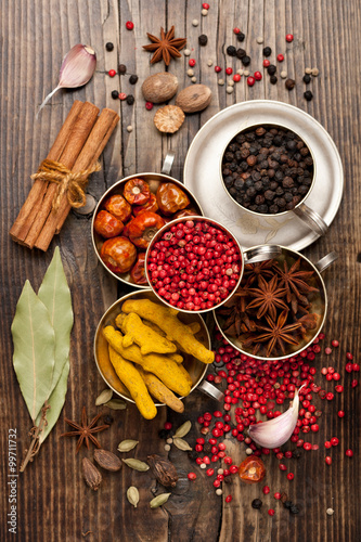 plakat Spices selection