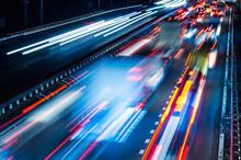 Night Traffic With Blurred Tra...