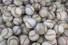Baseballs Grouped In A Large P...